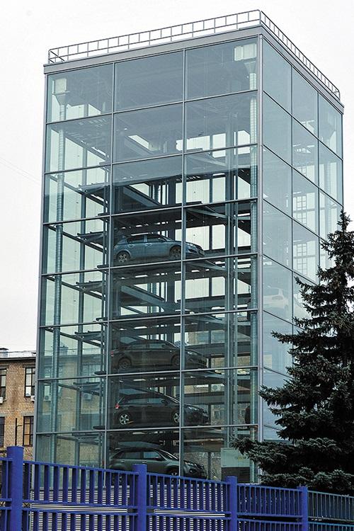 Роторные карусельные парковки в стеклянном корпусе, продажа и сервис в Украине с гарантией, сервис и послегарантийное обслуживание.